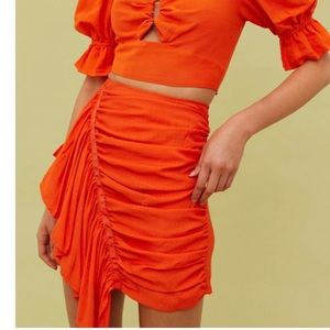CMEO Collective orange early on skirt